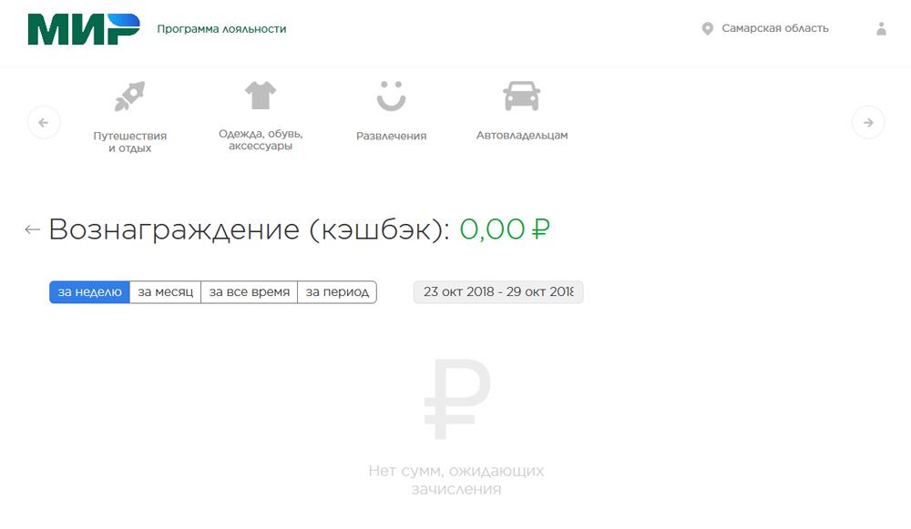 личный кабинет на сайте privetmir.ru - как посмотреть баланс кэшбэк