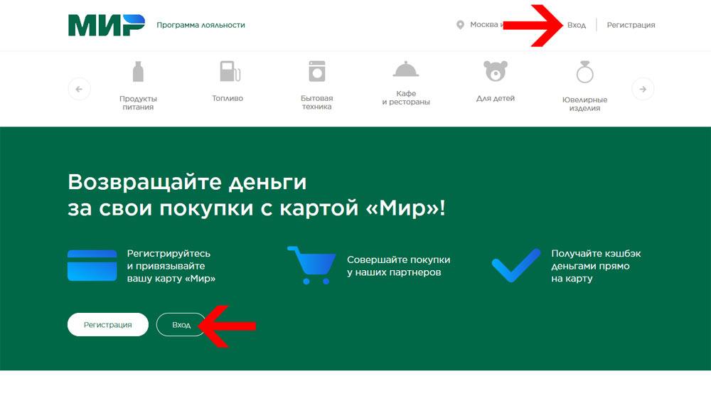 Вход в Личный кабинет на официальном сайте privetmir.ru